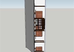某古典中式居住建筑SU(草图大师)模型素材