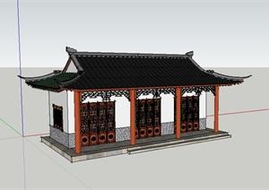 某古典中式居住建筑SU(草图大师)模型素材1