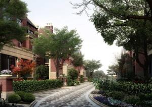 某居住别墅区景观设计效果图PSD格式