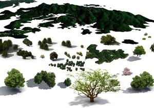 景观植物PSD鸟瞰素材