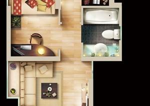 某住宅室内装饰设计PSD方案图
