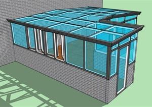 某玻璃阳光房建筑设计jpg图片