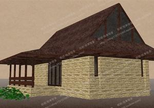 某小型住宅建筑设计SU(草图大师)模型1