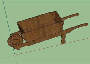 一辆独轮手推车设计SU(草图大师)模型