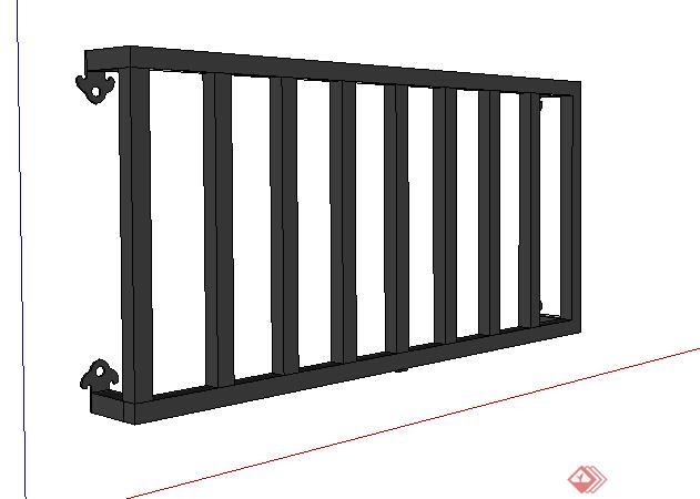 设计素材之阳台栏杆设计su模型(1)