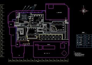 某绿化照明和音响布置规划施工CAD图